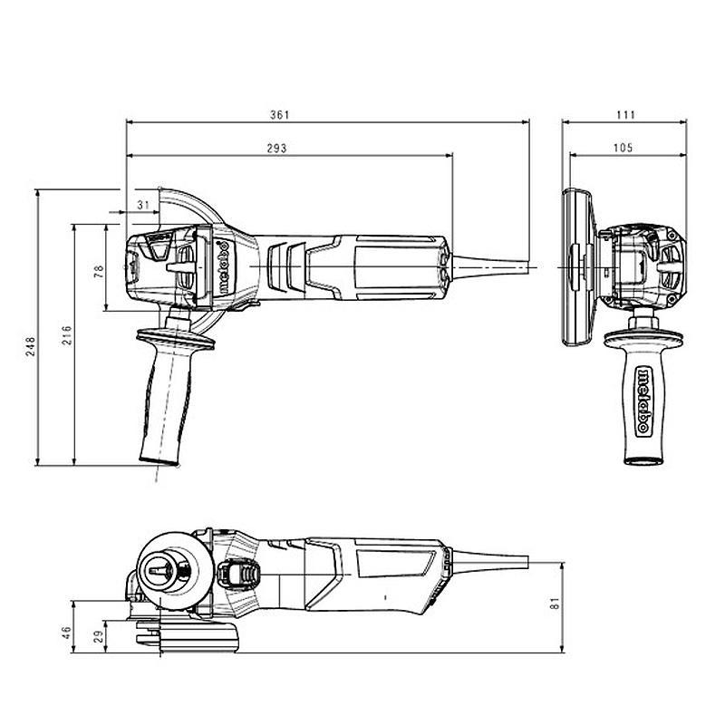 Polizor unghiular 125mm, 1000W WEV tip 10-125 QUICK