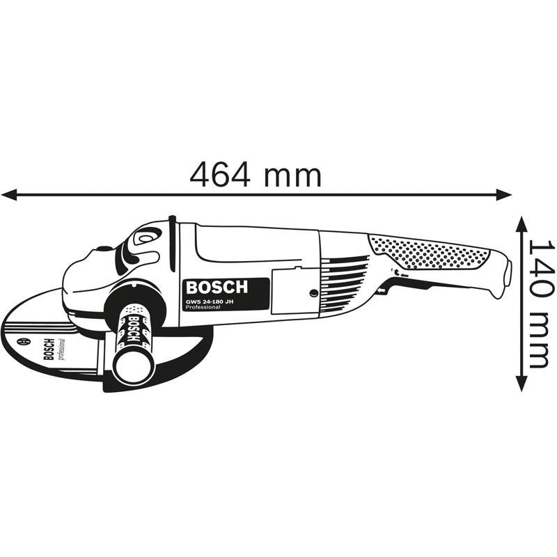 Polizor unghiular 180mm, 2400W tip GWS 24-180 JH