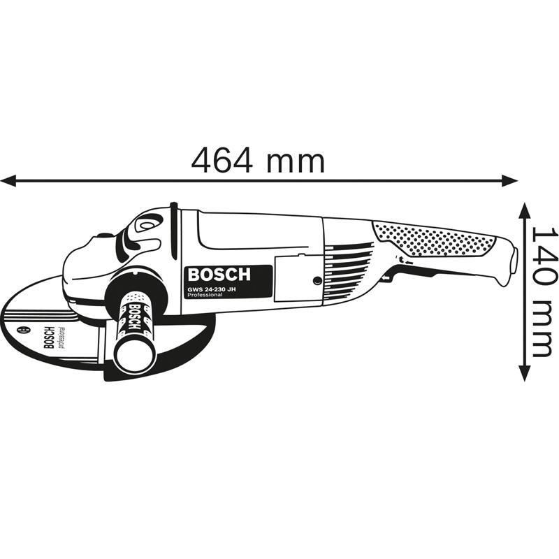 Polizor unghiular 230mm, 2400W tip GWS 24-230 JH