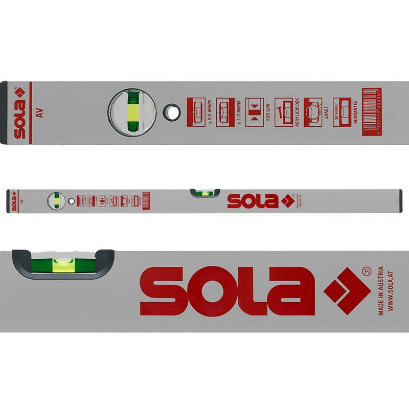 Nivela SOLA Austria AVD 80 cm, 2 bule + 1 reglabila