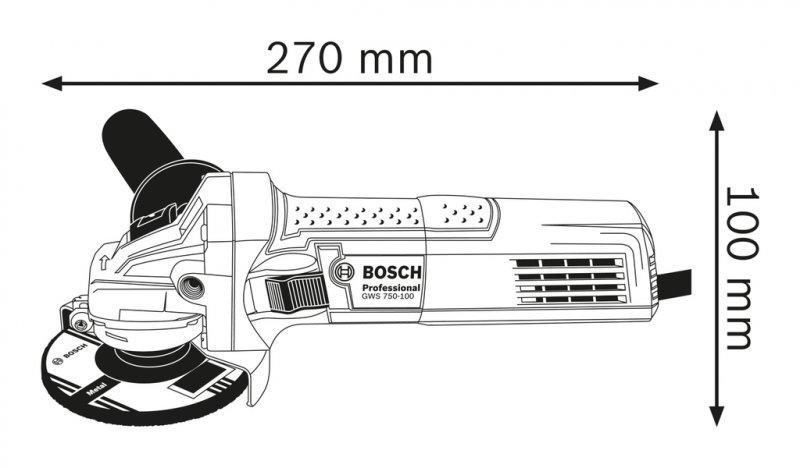 Polizor unghiular 125mm, 750W tip GWS 750-125 S