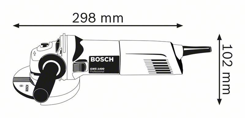 Polizor unghiular 125mm, 1400W tip GWS 1400