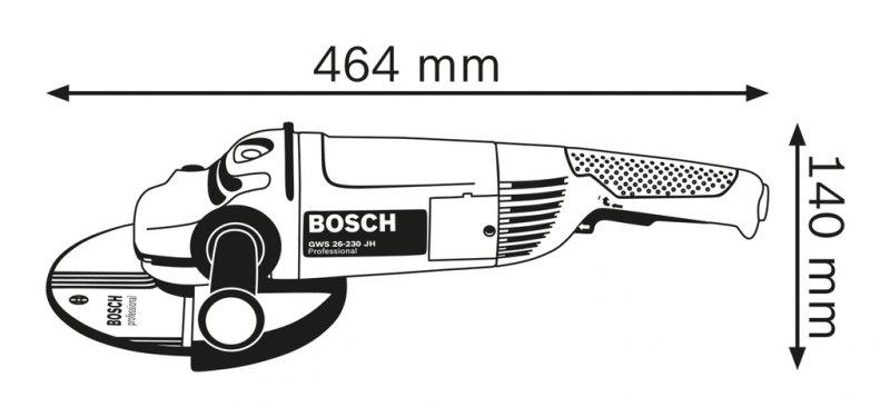 Polizor unghiular 230mm, 2600W tip GWS 26-230 JH