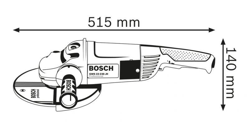 Polizor unghiular 230mm, 2200W tip GWS 22-230 H