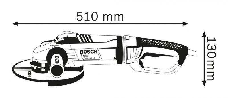 Polizor unghiular 180mm, 2400W tip GWS 24-180 LVI