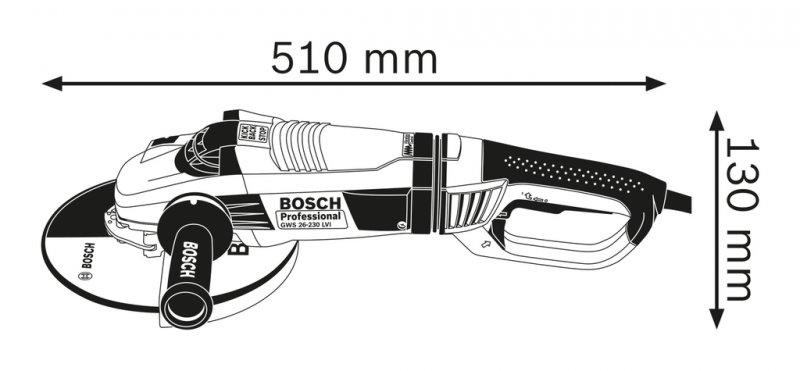 Polizor unghiular 230mm, 2600W tip GWS 26-230 LVI