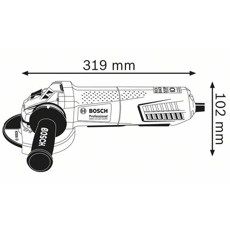 Polizor unghiular 125mm, 1500W tip GWS 15-125 CIEPX