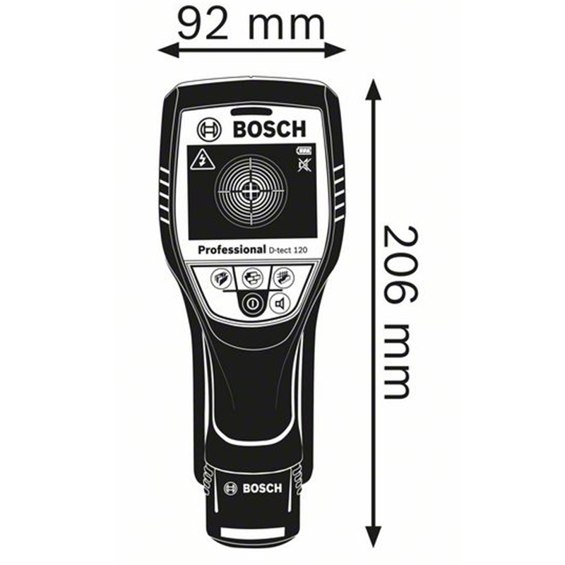 Detector digital pentru pereti compatibil cu acumulatori tip D-tect 120