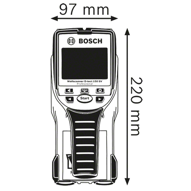 Detector de metal tip D-tect 150 SV