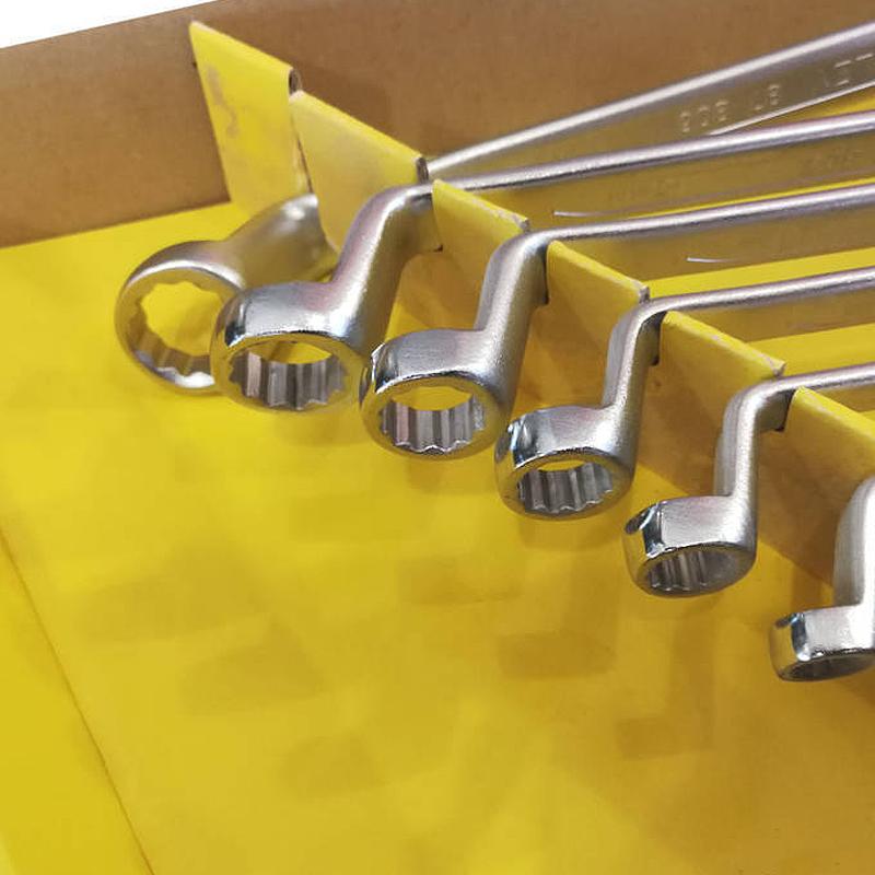 Set 8 chei inelare cu cot 6 - 22 mm