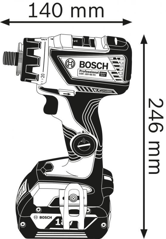 Maşină de găurit/înşurubat cu acumulator GSR 18V-60FC