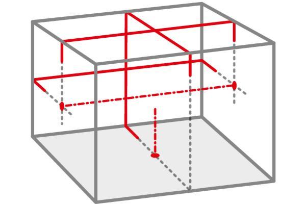 Nivela laser cu 3 linii + puncte iOX5 BASIC