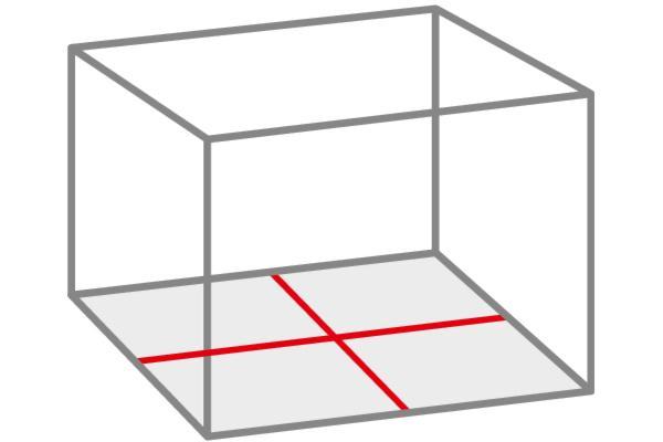 Nivela laser cu linii cruce pentru pardoseala FCL