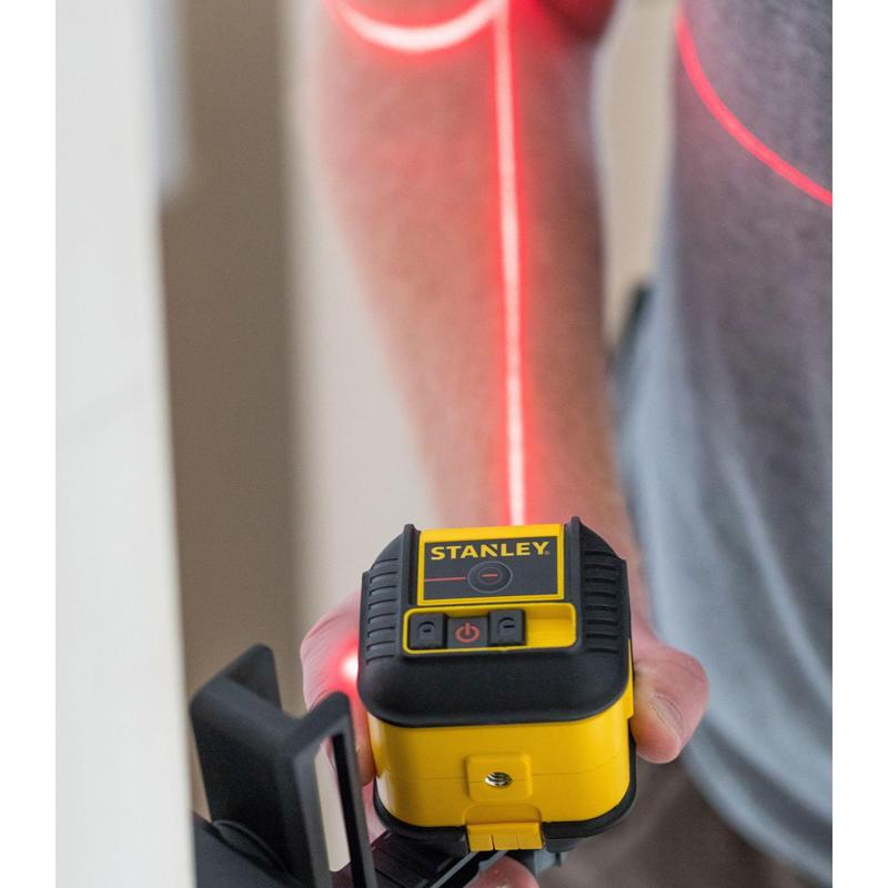 Nivela laser STANLEY, tip CROSS 90, dioda rosie