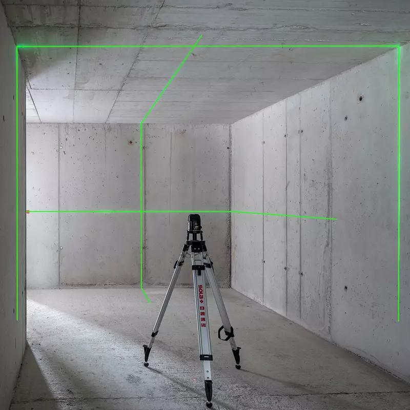 Nivela laser cu linii si punct, masurare in plan orizontal si vertical, SOLA, tip ATLAS GREEN