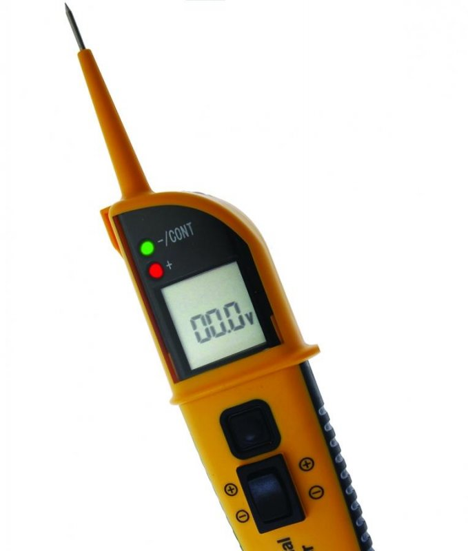 Tester tensiune / multimetru digital, 8 functii