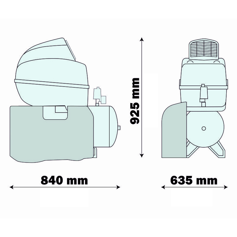 Compresor medical silentios AIR TECH 50/254 SILENT