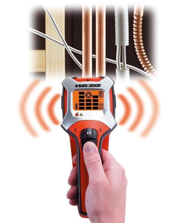 Detector de metal, lemn, cabluri sub tensiune BDS303-XJ