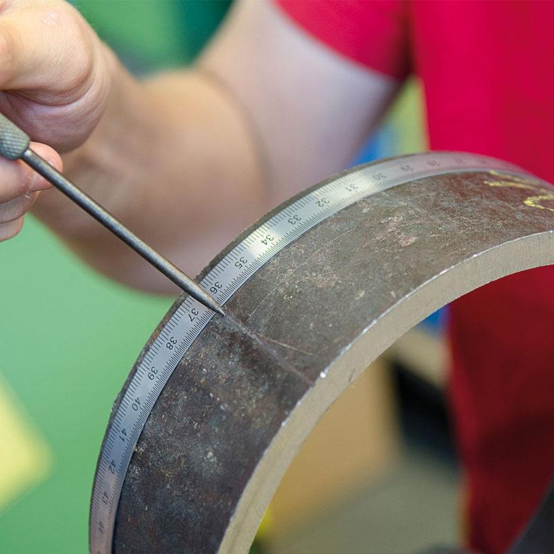 Rigla de masura din otel LSS 500, flexibila, L=500 mm