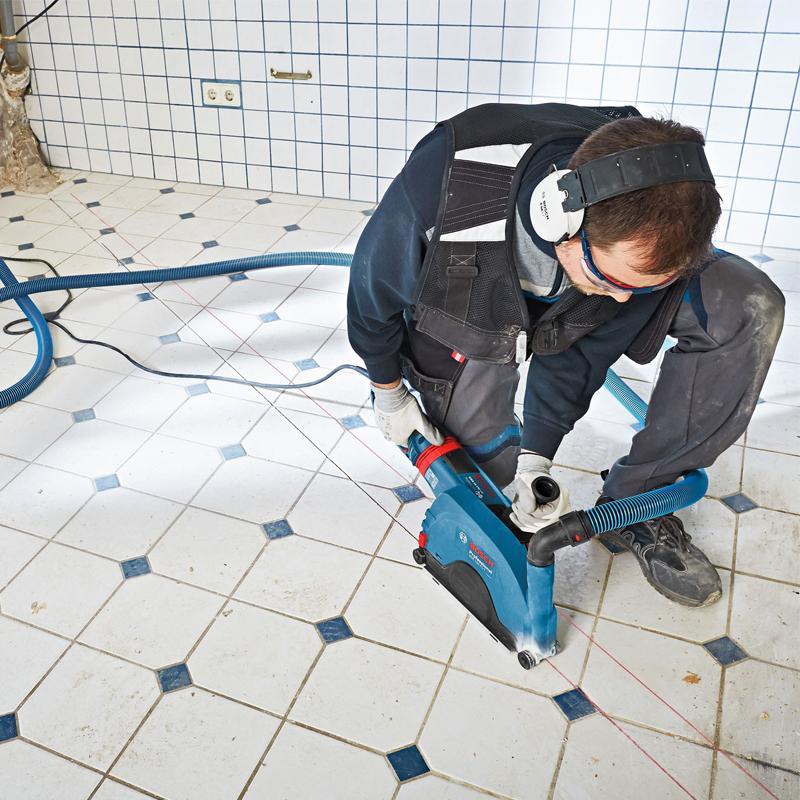 Aparatoare cu sistem de ghidare si aspiratie praf GDE 230 FC-S