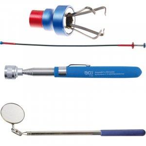 Dispozitive de prins si ridicat magnetice si cu gheare; oglinzi inspectie