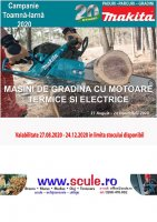 MAKITA Campanie PPG Toamna - Iarna 2020 - Masini cu motor termic si electric
