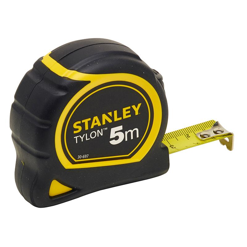 Ruleta STANLEY TYLON cu protectie cauciuc 5m
