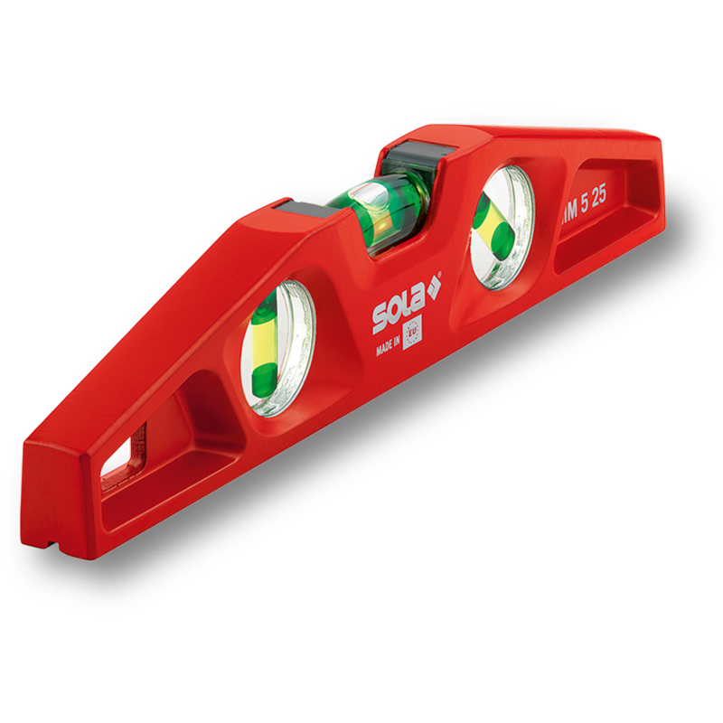 Nivela turnata trapezoidala cu magnet, SOLA MM5 25, 25cm
