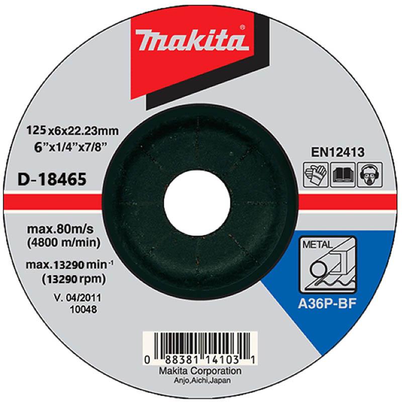 Disc polizare metal, 125 x 22.2 x 6 mm