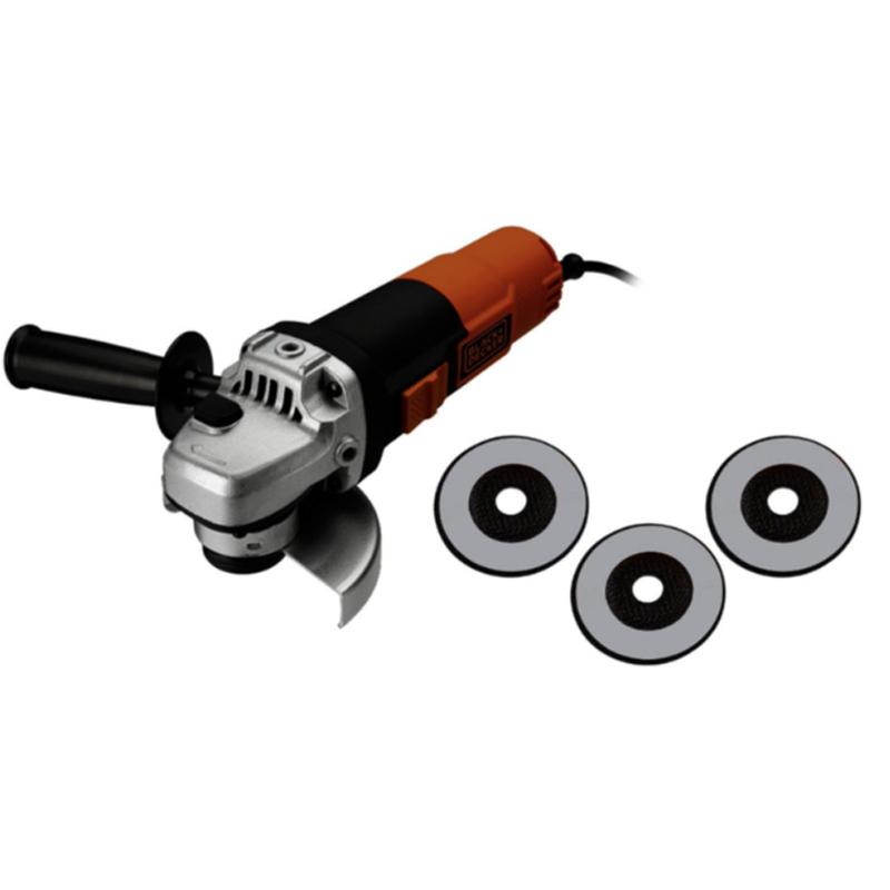Polizor unghiular 125 mm, 900W tip BDOG900KA-DE + 3 discuri