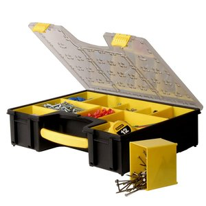 Cutie pentru scule Stanley, cu organizator si 8 compartimente mobile, dimensiuni 42.3x10.5x33.4 cm