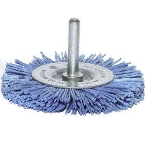 Perie disc pentru masina gaurit, fir plastic, 100 mm