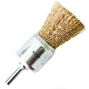 Perie pensula pentru masina gaurit, fir alamit, 25 mm