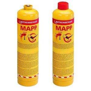 Butelie de gaz unica folosinta, din otel, Mapp Gas, filet 7/16