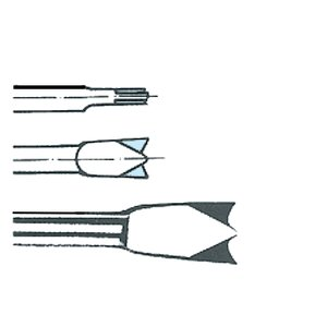 Daltă pentru taiat tabla, cu doua taisuri, HEX-10.5, Lungime = 125, Latime = 20 mm