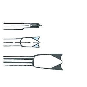 Daltă pentru taiat tabla, cu doua taisuri, HEX-10.5, Lungime = 130, Latime = 20 mm
