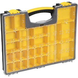Organizator profesional STANLEY cu capac, 25 compartimente, 42.2 x 5.2 x 33.4 cm