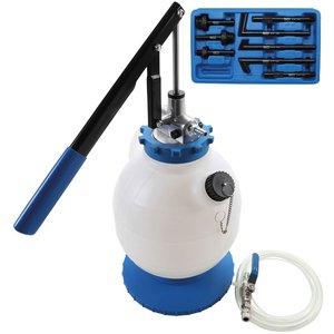 Aparat umplere ulei transmisie cu pompa manuala cu 8 adaptoare, 7 l