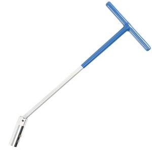 Cheie pentru bujii, cu maner T si articulatie sferica, deschidere 16 mm, lungime 375 mm