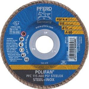 Disc lamelar (evantai) pentru slefuire PFC 115-22 A60