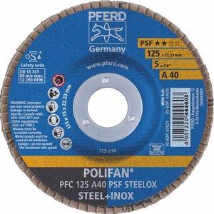 Disc lamelar (evantai) pentru slefuire PFC 125-22 A40