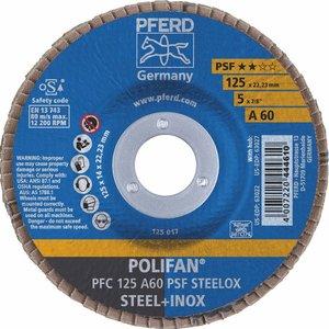 Disc lamelar (evantai) pentru slefuire PFC 125-22 A60