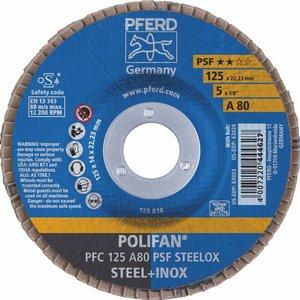 Disc lamelar (evantai) pentru slefuire PFC 125-22 A80