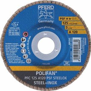 Disc lamelar (evantai) pentru slefuire PFC 125-22 A120