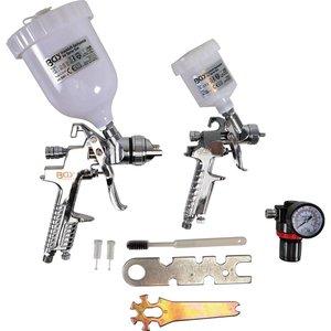 Set 2 pistoale de vopsit  pneumatice HVLP + Regulator presiune + Perie