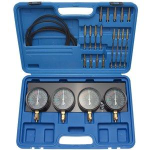 Tester sincron carburatoare cu 4 cadrane de sincronizare, 0-14 PSI, 29 piese