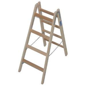 Scara de lemn dubla cu trepte pe ambele parti, 2x4 trepte