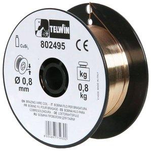 Rola sarma brazare CuSi3 0.8 mm, 0.8 kg