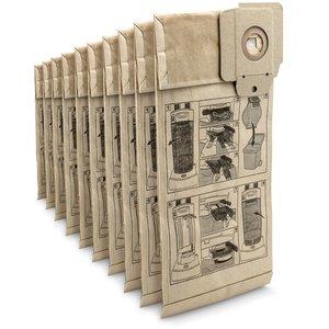 Set 10 saci filtrare din hartie pentru aspiratoare Karcher CV