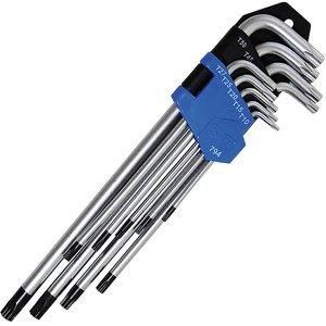 Set 9 chei Torx cu gaura lungi tip L, TT10 - TT50